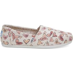 f6063d352ac TOMS Watercolor Hearts Women s Classics Slip-On Shoes (68 CAD) ❤ liked on
