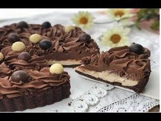 CROSTATA FREDDA AL CAPPUCCINO | RICETTA SENZA COTTURA - YouTube Mousse, Cheesecake Cupcakes, Strudel, Kitchen Art, Biscotti, Cake Pops, Food And Drink, Sweets, Chocolate