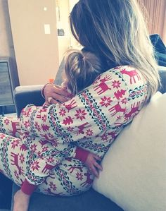 Mommy and Me matching jammies!