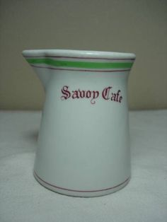 ALBERT PICK CO. SAVON CAFE RESTAURANT WARE CREAMER #ALBERTPICKCO