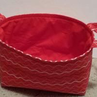 Sewing : Red One Hour Basket