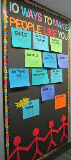 Bulletin board: How to make people like you