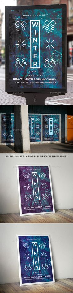 Winter Flyer Poster. Download: https://graphicriver.net/item/winter-flyer-poster/18719945?ref=thanhdesign