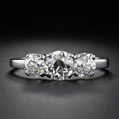 Estate Three Stone Diamond Ring