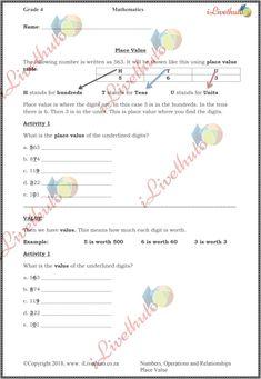 Home - iLiveThuto Grade 5 Math Worksheets, Volume Worksheets, 6th Grade Activities, Place Value Worksheets, Math Place Value, Sight Word Worksheets, Free Printable Worksheets, Place Values, Kindergarten Worksheets