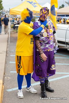 #LSU Superfans at the WVU game. Huge win for the SEC!