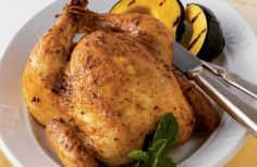 Cornish Game Hens with Garlic-Mint Butter from Weber Grills and Accessories: Recipe Courtesy of Jamie Purviance.