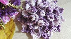 Hydrangea Free Crochet Pattern - Right Handed - YouTube