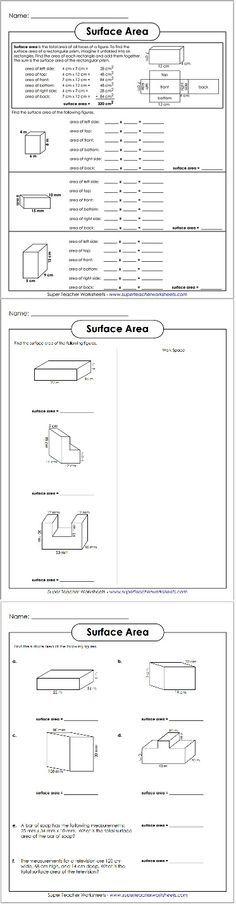 Prisms and Cylinders Volume Worksheets | Math-Aids.Com | Pinterest ...
