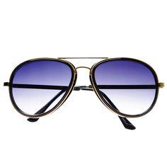 Celebrity Fashion Style Metal Arms Aviator Sunglasses A1530