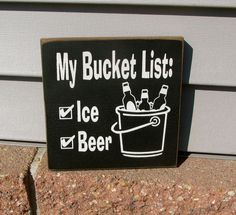 Painted Wooden Fun Funny Bar Sign Beer Sign by WordsofWisdomNH, $15.00