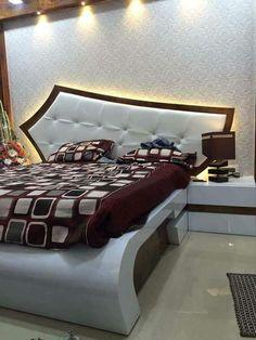 Bedroom Wall Designs, Wardrobe Design Bedroom, Bedroom Bed Design, Bedroom Furniture Design, Modern Bedroom Design, Bed Furniture, Home Bedroom, Bedroom Fireplace, Luxurious Bedrooms