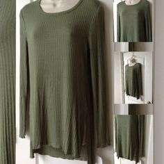 Living Doll XL Light weight army green great oversize top Tops