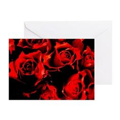 Red roses Greeting Card on CafePress.com