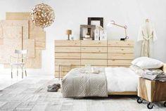 Muebles de madera sin tratar