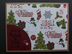 Scrapbookign Christams card- card natalizie scrap