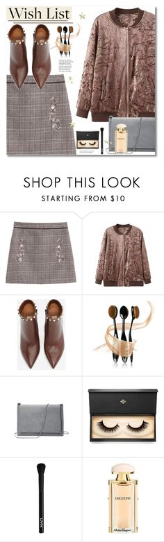 """""""#PolyPresents: Wish List"""" by svijetlana ❤ liked on Polyvore featuring Valentino, Lash Star Beauty, NYX, Salvatore Ferragamo, contestentry and polyPresents"""