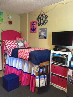 Ole Miss Dorm Room Stewart Hall (Anchors and Pearls)