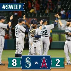 Mariners Postgame Graphic after Sweeping the Angels
