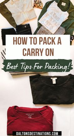 Want to save time and money? Use a smaller suitcase while you travel. Here is the ultimate packing guide for a carry-on. | Essential carry on packing list | Essential packing tips | How to pack a carry on like a pro | How to pack a suit case | How to pack your carry on | Packing tips for every traveler | Travel checklist | Travel packing list you need | What should I pack in my carry on | What to Pack | Packing outfits | Carry on packing guide | Carry on packing hacks | Packing guide for carryon Weekend Packing List, Packing Tips For Vacation, Packing Hacks, Packing Lists, Carry On Packing, Travel Packing, Travel Usa, Packing Clothes, Packing Outfits