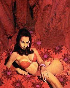 Vintage Pulp Art Illustration   Female-Centric Pulp Art   Sugary.Sweet   #Pulp #Art #Illustration