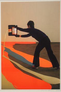 """Lynda Benglis, Fling, Dribble, and Drip, 1970 a"