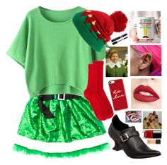 """""""Buddy the elf"""" by malrocks2003 ❤ liked on Polyvore featuring Funtasma, Capelli New York, Isabel Marant, Christian Dior, Jouer, Casetify, Chanel and MAC Cosmetics"""