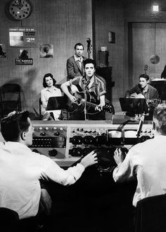 Elvis working on soundtrack for Jailhouse Rock,1957