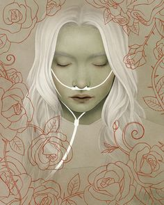 Sleeping Beauty (Dornröschen) - Modern Grimm - Illustration by Björn Griesbach