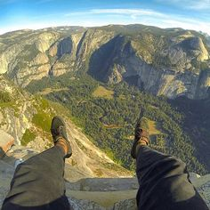 Hanging out on Glacier Point, Yosemite with @johnnyatoe // Your source for GoPro, Drone & Smartphone Camera & Tech Gear // www.GoWorx.com