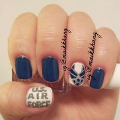 Bellyitch: Happy Veterans Day: Military-inspired Nail Art - Air Force!