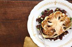 Cauliflower 'Steak' with Quinoa