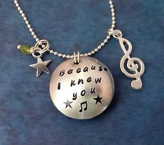 Musical Wicked Inspired Jewelry  Hidden Message by ILoveItandMore