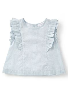 9dd467fcd6a Baby Girls Holly Willoughby Pastel Blue Frill Sleeved Blouse  Lillepigeoutfits, Småbørnstøj, Kids Outfits,