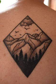 Diamond chape mountain tattoo.