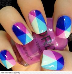 Cool nail design - multi-colored manicure