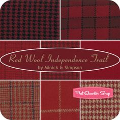 Independence Trail Red Wool Fat Quarter Bundle Minick & Simpson for Moda Fabrics - Fat Quarter Shop