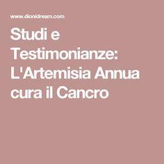 Studi e Testimonianze: L'Artemisia Annua cura il Cancro