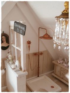 Love this miniature bathroom (shower) 1:12 scale.