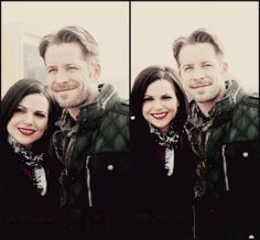Lana & Sean on set - February 26, 2014 #OutlawQueen