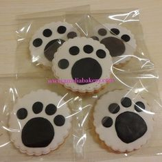 41 New Ideas For Cookies Decoradas Perros Panda Themed Party, Panda Birthday Party, Panda Party, Dog Birthday, Panda Cakes, Dog Cakes, Fondant Cookies, Cupcake Cookies, Cupcakes