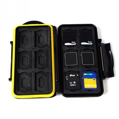 Waterproof Memory Card Storage Box SDMSD12 Memory Cards Case Anti-shock Tough Micro SD Card Case for 12 SD/TF Cards
