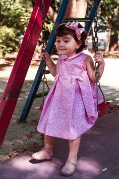 Vestido Bebê Floral Rosa - R$ 139,00 no MercadoLivre