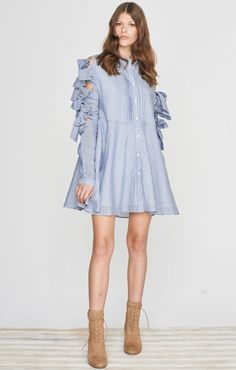ISLA Label Cetara Dress Blue One Size Xs Left find it and other fashion trends. Online shopping for ISLA clothing. Isla label cetara dress blue who'd. Blue Dresses, Short Dresses, Accesorios Casual, Fashion Capsule, Boyfriend Shirt, Clothing Items, Womens Fashion, Fashion Trends, One Piece