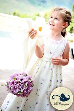 Your flower girl can throw real petals