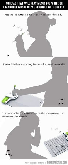 Mind blowing music notepad… Just shut up and take my money.