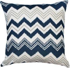 "Zia Chevron, Navy 20""x20"" #pillow $41.95"