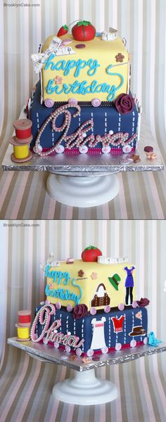 Perfect Fashion Design Cake.  I think my niece can replicate this!