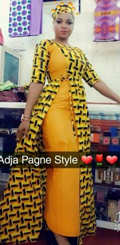 Robe wax African Dresses For Kids, African Fashion Ankara, Latest African Fashion Dresses, African Dresses For Women, African Print Dresses, African Print Fashion, Africa Fashion, African Attire, African Print Dress Designs