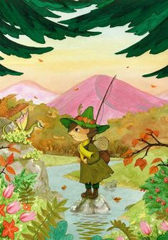 Finally made a fanart for Moomin, which I've been wanting to do for a long time. I tried to mix how things looks in the cartoon with how I do it;) The idea for this painting is that Snufkin leaves in the fall and meets the dragon again. If you...